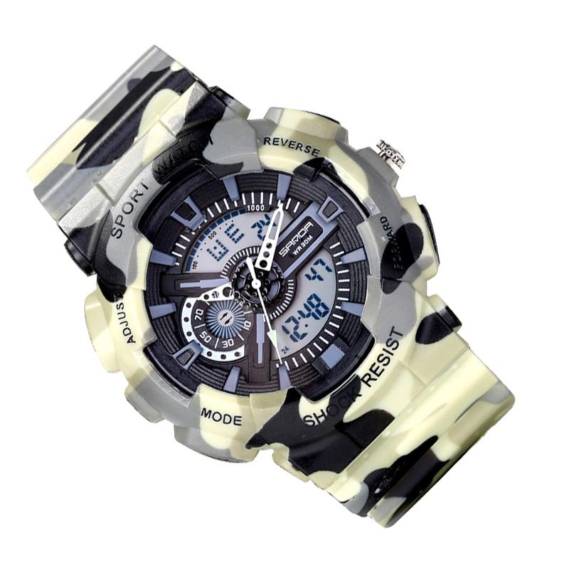 Prix pour Led Automatique montre étanche Hommes Montre De Mode top qualité mens célèbre horloge armée de luxe montre-bracelet militaire vintage en plein air