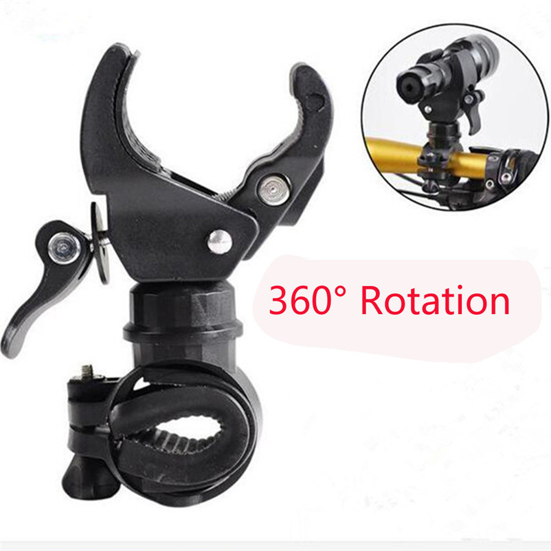 360 Degree Rotation Cycling Bike Mount Holder Bracket for Flashlight Torch Clip Clamp Lights #2AP03 ...