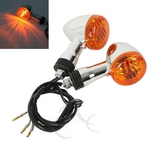 Chopper Bobber Motorcycle Turn Signal Lights For SUZUKI Boulevard M109R VRZ1800 Harley Dyna Softail Sportster Signal indicator 4x clear turn signal lenses for 2006 2012 suzuki boulevard m109r motorcycle signal lamp cover lampshade scooter