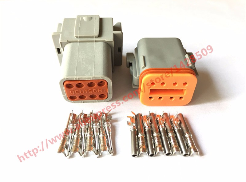 50/100 Set 8 Pin Female Male Waterproof Electrical Wire Connector Plug Deutsch Enhanced Seal Shrink Boot Adapter DT06-8S DT04-8P цены онлайн