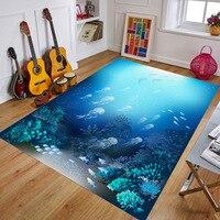 3d ковры и коврики большой гостиной ванная комната пространство Противоскользящий ковер домашний декор 80 см * 120 см