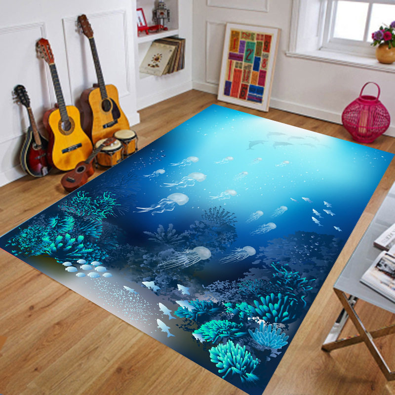 3d Carpet And Area Rugs Large Parlor Bathroom Living Room Space Anti-Slip Rugs Home Decor 80cm*120cm