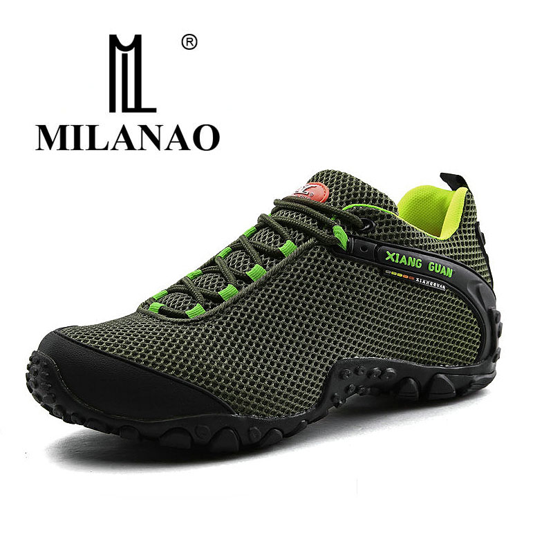 MILANAO Waterproof Hiking Mountain Shoes For Men Climbing Mesh Man's Trekking Sneakers Outdoor Walking tenis para caminhada humtto new hiking shoes men outdoor mountain climbing trekking shoes fur strong grip rubber sole male sneakers plus size
