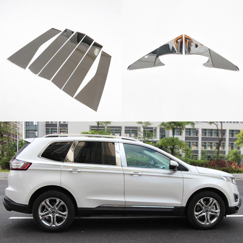 For Ford Edge 2013 2014 Stainless Steel Car Full Window Trim Decoration Strips Exterior Auto Accessories Strip on Car-Styling high quality stainless steel car window trim strip 16pcs for 2013 2014 renault koleos