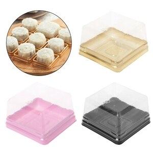 80 г квадратная Луна противни для пирожных лунного пирога упаковочная коробка контейнер держатель 50 наборов