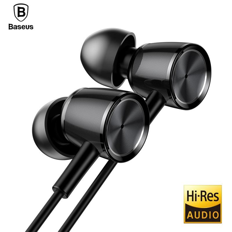 Baseus H07 hi-res Audio con cable auricular con micrófono auricular del EN-oído del Metal estéreo bajo sonido con 3,5mm jack auriculares kulakl k