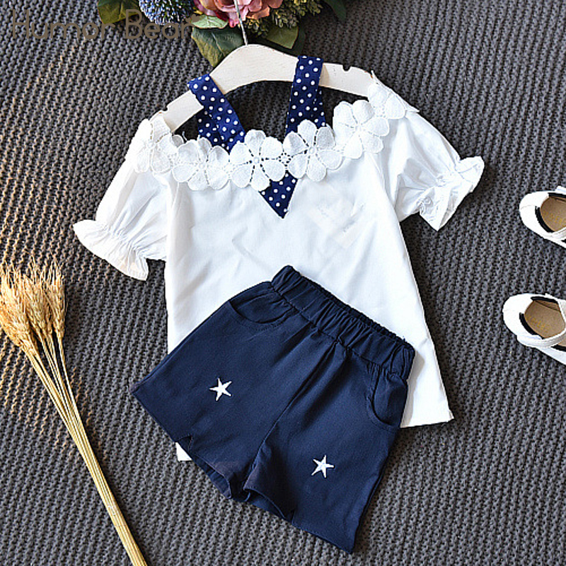 Humor Bear Baby Girl Clothes 2018 Brand Girls Clothing Sets Kids Clothes Bay Clothes+Short Pants 2Pcs For 2-6 Years