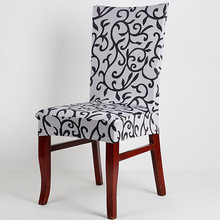 High Quality Printed Elastic Removable Dining Room Office Chair Cover Sure Fit Soft Stretch Spandex Pattern