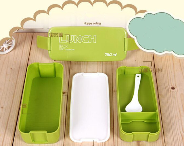 Lunch Box With Spoon Candy Color great gadgets