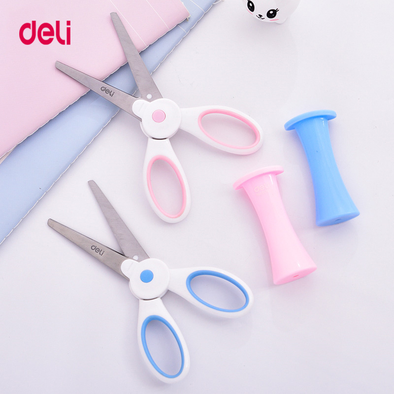 Deli 6065 Portable Scissors For Kid Cute Mini Stationery Utility Knife  Office And School Hand Cut Supplies