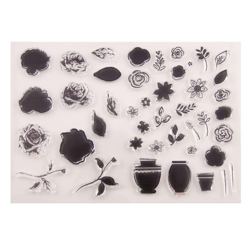 Fleur Silicone clair sceau timbre bricolage Scrapbooking gaufrage Album Photo décoratif papier carte artisanat Art fait main cadeau