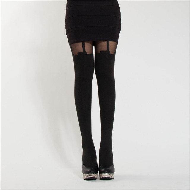 Strap patchwork hosiery pantyhose stockings
