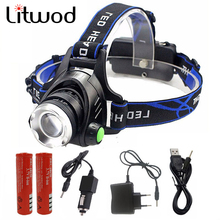 5000 Lumens Led Headlamp Cree XM-L T6 / L2 Led Headlights Lantern 4 Mode Waterproof Torch Head 18650 Rechargeable Battery Newest
