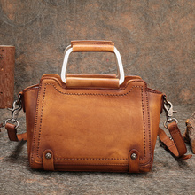 купить Handbag Small Women Purse Genuine Leather Bag Rivet Cow Leather Shoulder Bag Vintage Messenger Bag Crossbody Bag Women Handbag дешево
