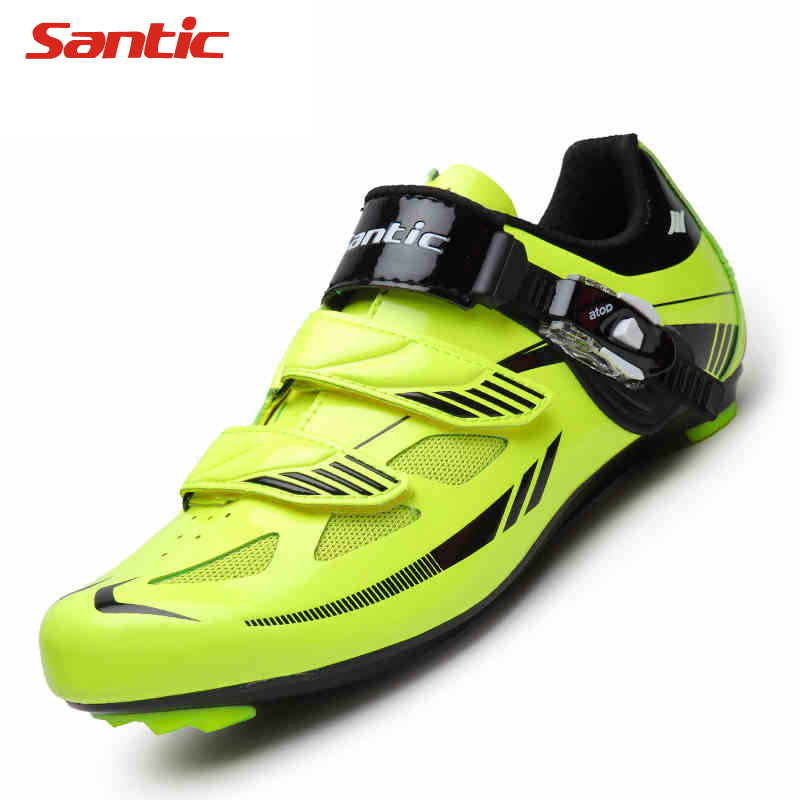 Santic Cycling Shoes PU TPR Breathable Mountain Bike Shoes MTB Road Bike Hook & Loop Men Bicycle Shoes Cycling mantra 0097