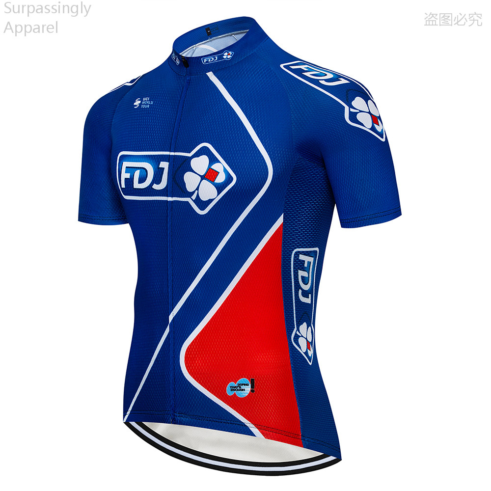 Detail Feedback Questions about 2018 Cycling UCI Tour Team Pro Blue FDJ  Cycling Jersey MTB Ropa Ciclismo Mens Women Summer Bicycling Shirts Maillot  Bike ... 87e7b5d64