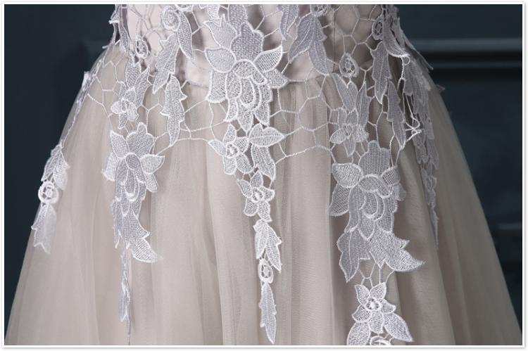 Robe De Soiree 2017 gery u collar Lace Up short evening dress abendkleider vestito da sera prom dresses party dresses 4 colors 17