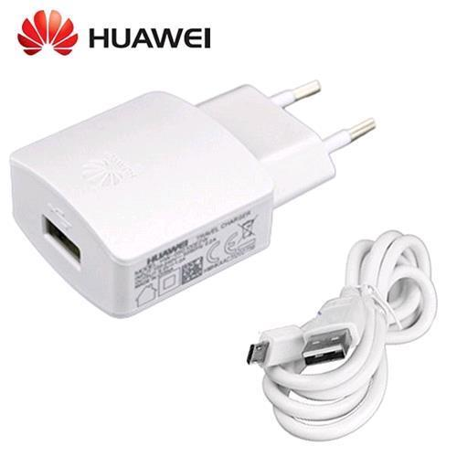 HUAWEI TRAVEL CHARGER 5V 2A FAST USB WHITE + CAVO MICRO-USB
