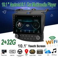 Car Radio 10.1 inch Android 8.1 Stereo For 2003 2004 2006 2007 Honda Accord 7 2Din GPS Head Unit Multimedia Player