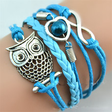 Women Infinity Multilayer Charm Leather Bracelets