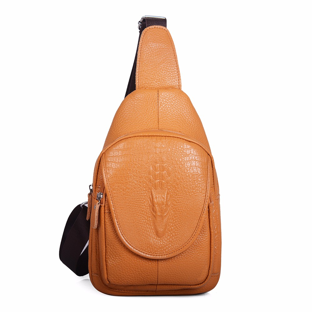 Casual Cow genuine leather Men bag Crossbody chest Bags Men Messenger Bags Single Shoulder Chest men's travel bags handbags (11)