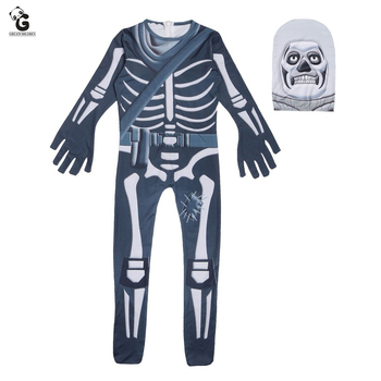 Crâne Trooper Costume enfants Cosplay Costumes garçons jeu peau Cosplay enfant Halloween Costumes pour enfants fête fournitures