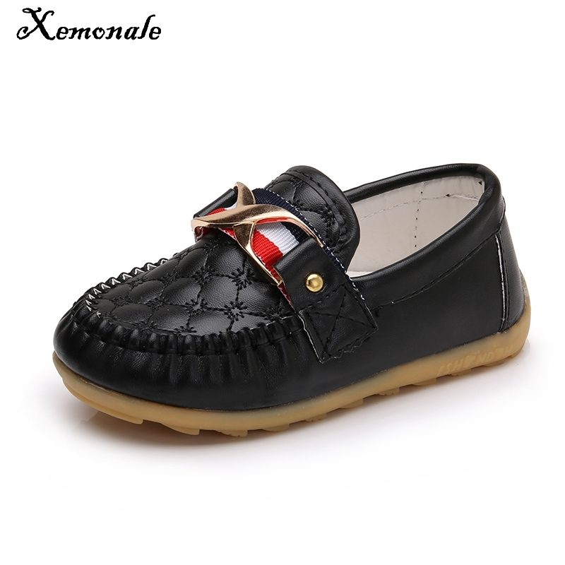Fashion Kid Boy Girl Shoes Children Slip-on Loafers Oxford Shoes Moccasin Baby Toddler Casual Flat Sneakers PU Leather Soft Sole