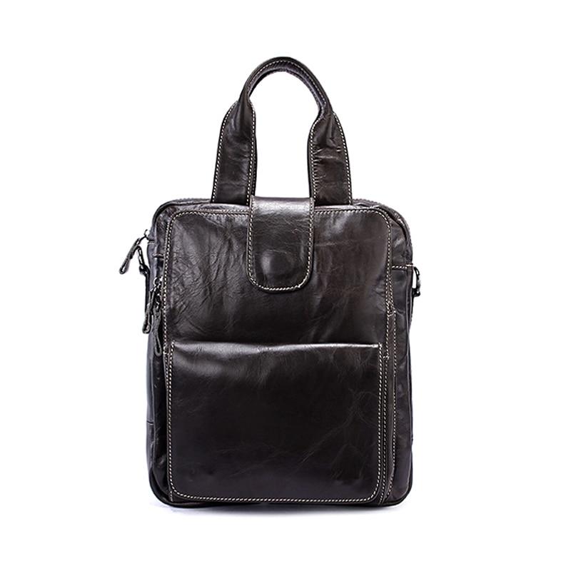 все цены на New Arrival Men Shoulder Bag Men's Genuine Cowhide Leather Handbag Bags Messenger Bags Business Male Shoulder for men Handbags