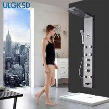 ULGKSD badezimmer duscharmatur thermostatischer dusche panel wandhalterung edelstahl duschsäule duschkopf mischbatterie