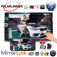 Bluetooth 9 Languages 2 Din Touch Screen USB With Camera Mirror For Android Phone 7 Inch Mirror Link Screen Car Radio MP5 Player