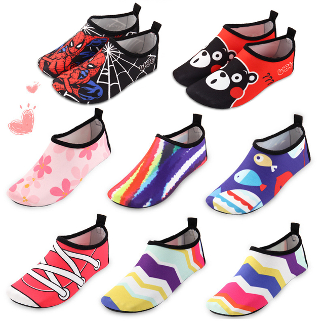 4e6e9c7e056 Kids Water Shoes Quick Dry Aqua Socks Barefoot LightWeight Shoes ...