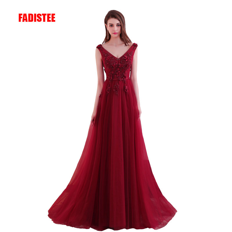 FADISTEE New arrival elegant party   prom     dress   Vestido de Festa beading appliques luxury lace formal evening long style   dress