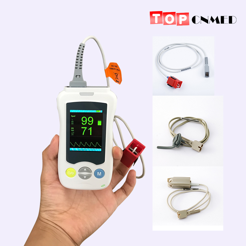 2 4inch Color TFT Screen Handheld Pulse Oximeter SPO2 Pulse Rate Blood Oxygen Monitor Oxymeter