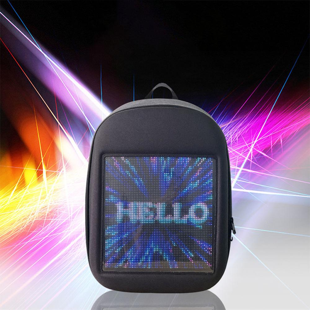 Litake LED Screen Display Backpack DIY Wireless Wifi APP Control <font><b>Advertising</b></font> Backpack Outdoor LED Walking Billboard Backpack image