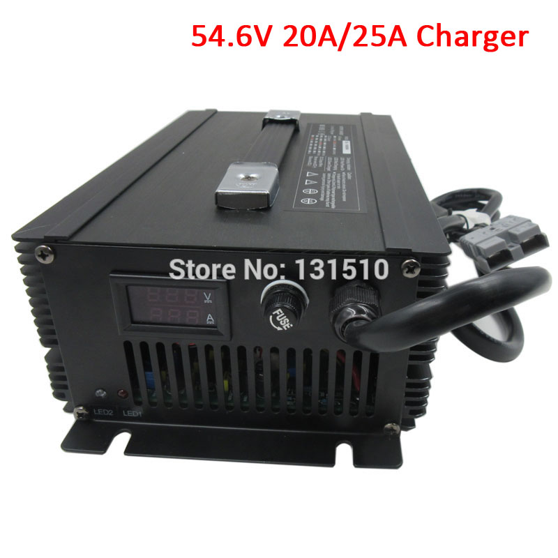 1500W 48V 20A Lithium Battery Charger 54.6V 20A / 54.6V 25A Charger Used for 48V 13S Lithium battery pack DHL Free shipping