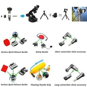 Image 2 - GoPro اكسسوارات عدة ل الذهاب برو Hero7 6 5 شريط للصدر رئيس حمل العائمة قبضة اليد المسمار 53 في 1 مجموعة ل عمل الكاميرا