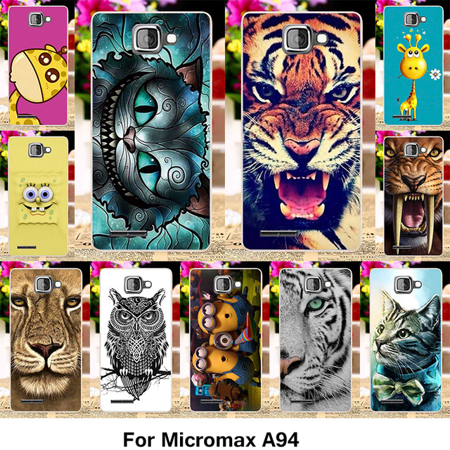 TAOYUNXI Silicone Phone Cover Case for Micromax A94 Canvas MAd A94 4.5 INCH Case Cute Animal Soft TPU Cover Skin Bag Shell