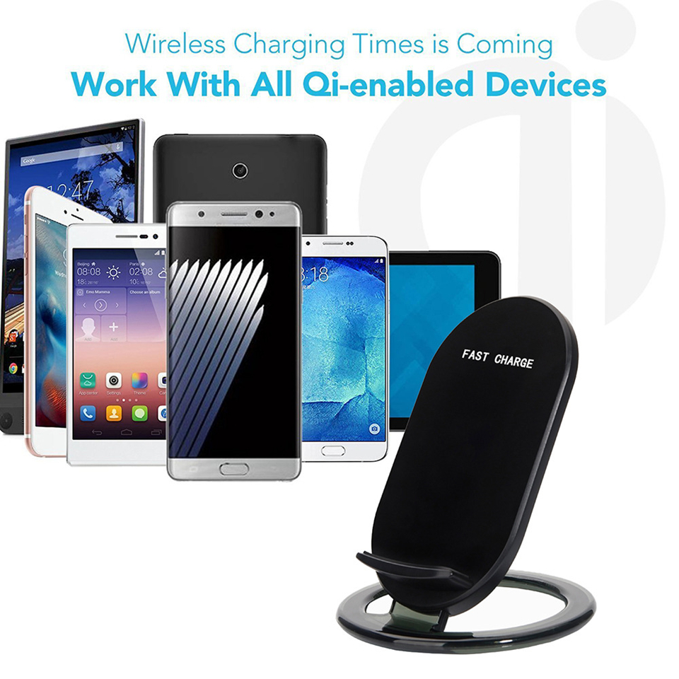 Amstar Qi Wireless Charger 10 W / 7.5 W Dual Coils Charger Cepat - Aksesori dan suku cadang ponsel - Foto 6