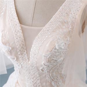 Image 5 - Fansmile Tulle Mariage Vintage Princess Ball Gown Wedding Dresses 2020 Quality Lace Plus size Wedding Bride Dresses FSM 519F