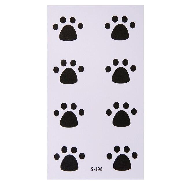 10 Sábanas perro garras patrón tatuaje temporal Adhesivos ...