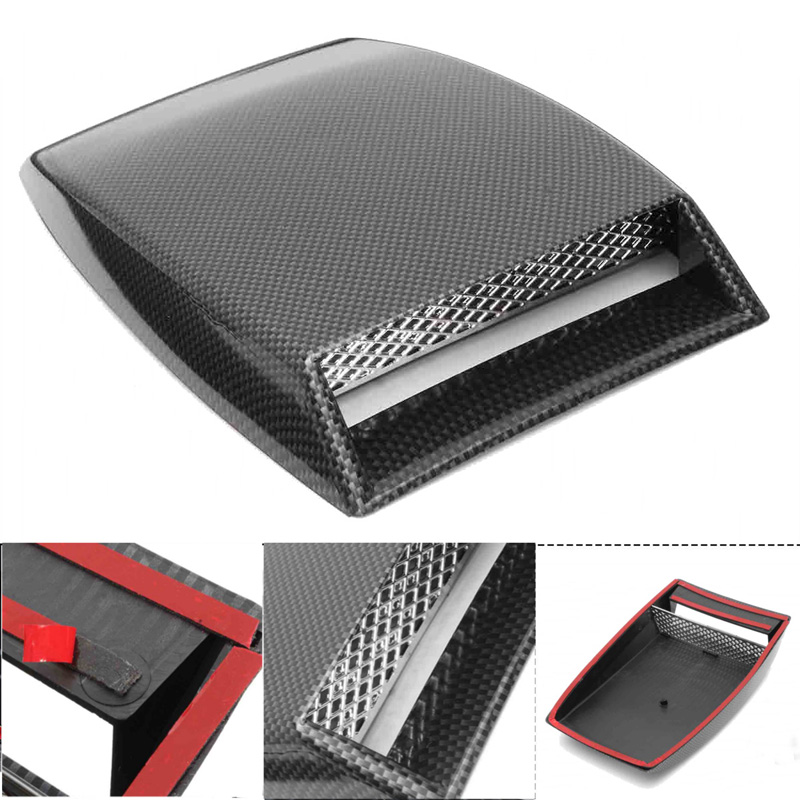 Hot Universal Car Decorative Air Flow Intake Hood Scoop Vent Bonnet Cover Hood JLD