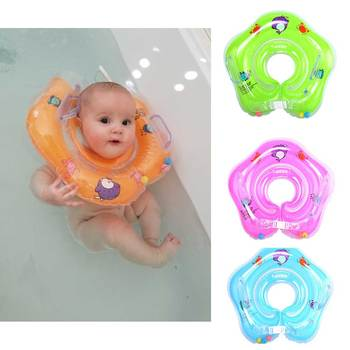 Baby Neck Float Swimming Newborn Baby Swim Neck Ring Pump Mattress Cartoon Pool Swim Wheel For 0-24m Kids Swim Pool Accessories фото