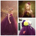 Princesa Flor Meninas de Fadas Tutu Vestido Tornozelo-Comprimento Para A Festa de Aniversário Boutique Cosplay Halloween Do Bebê Meninas vestido de Baile Vestidos