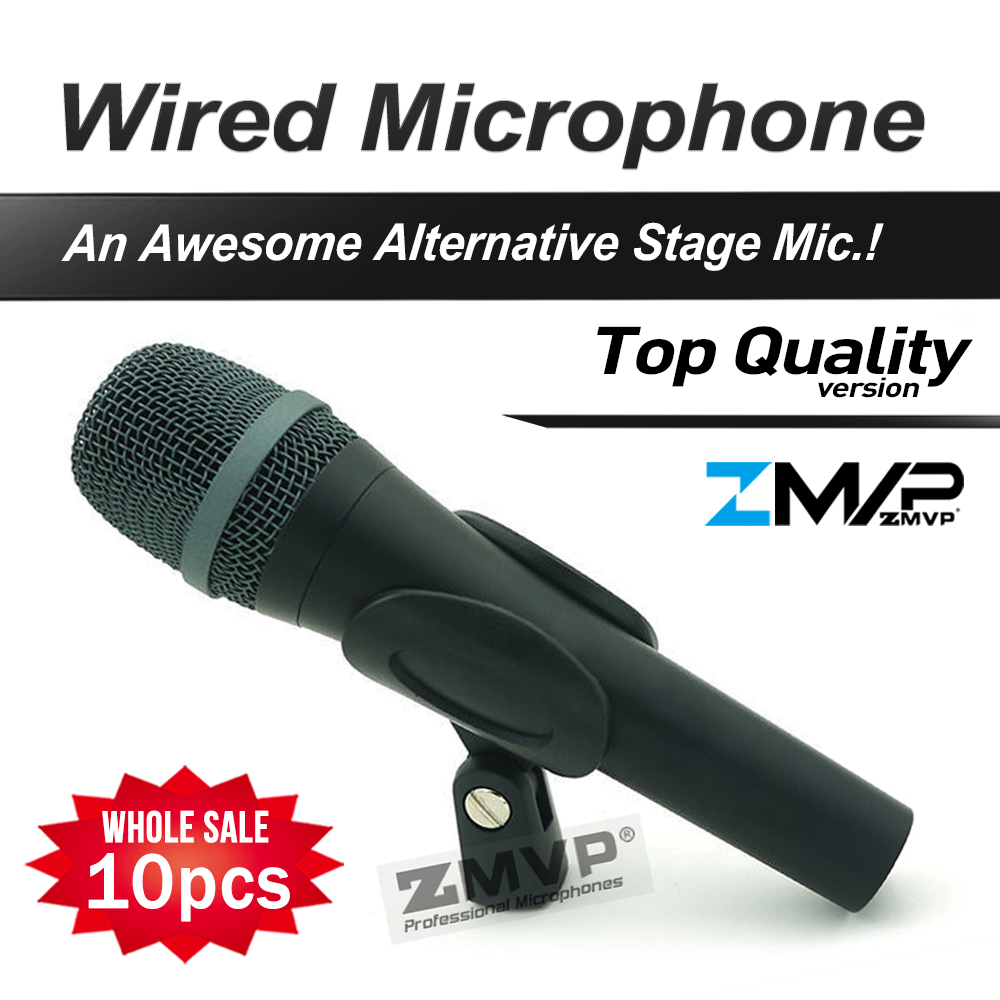 Free Shipping! 10pcs Top Quality 945 Professional Karaoke Dynamic Super Cardioid Vocal Wired Microphone Microfone Microfono Mic