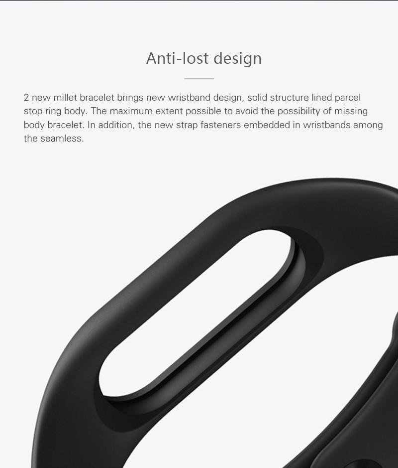 Oryginalny xiaomi mi kompania 2 miband bransoletka wistband inteligentnego tętno fitness ekran oled wyświetlacz dla iphone 7 touchpad bluetooth 29