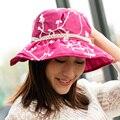 Da Praia do verão Chapéus Para As Mulheres Elegante chapéu de Aba Larga Chapéus chapeu de praia Panamá Cap Sombreros Verano Mujer Feminino mala de Viagem Ao Ar Livre