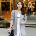 2016 Autumn Winter Fashion New Long Sleeve Sweaters Womens Red Gray Long Knitted Female Cardigan Women's Trench Size 2XL 3XL