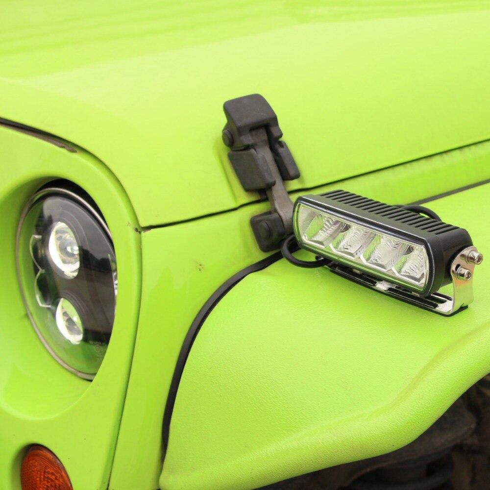 Image 5 - 6 дюймов 20 Вт тонкий светодиодный свет бар янтарный туман ходовые огни для внедорожники отражатели ATV 4x4 4WD морской трейлер вождения Barra огни-in Световая рейка/рабочее освещение from Автомобили и мотоциклы
