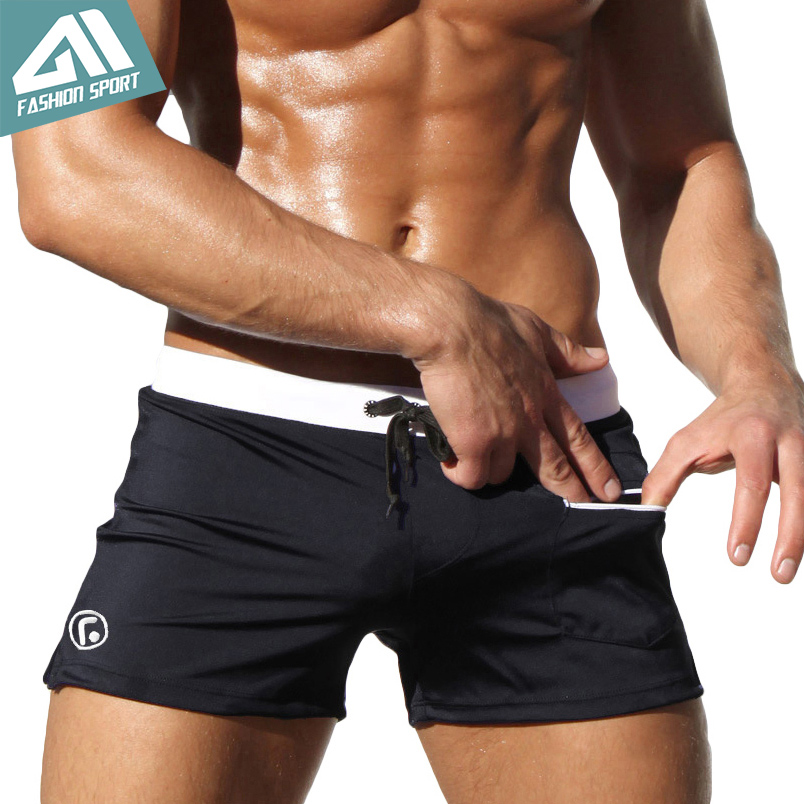 Aimpact New Men's Swimwear Surfing Men Swimming Shorts Summer Holiday Men Beachwear Swimsuit Popular Swim Short AQ02(China)