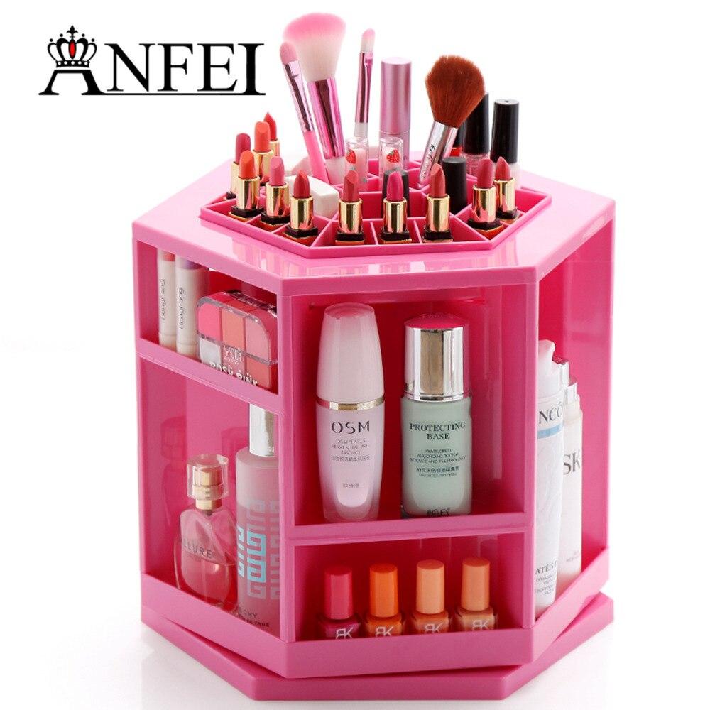 Anfei Fashion New Design Rotate 360 Degrees Makeup Box